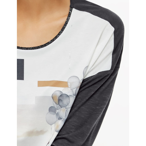 Gerry Weber Photo Print Top With 3/4 Sleeves