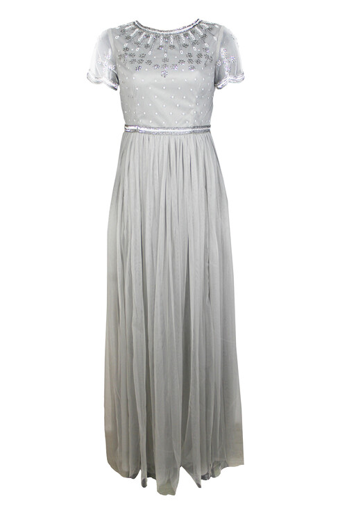 Maya Embellished Bodice Maxi Dress With Tulle Skirt