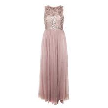 Maya Sleeveless Embellished Bodice Maxi Dress With Tulle Skirt