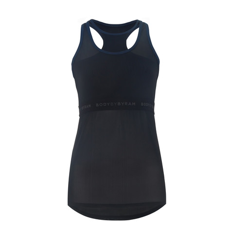 BodyByByram Navy & Black Gaia Vest Top