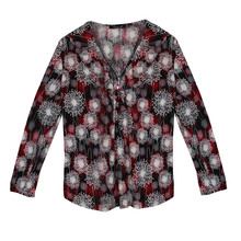 SophieB Grey & Red Firework Pattern Print Top