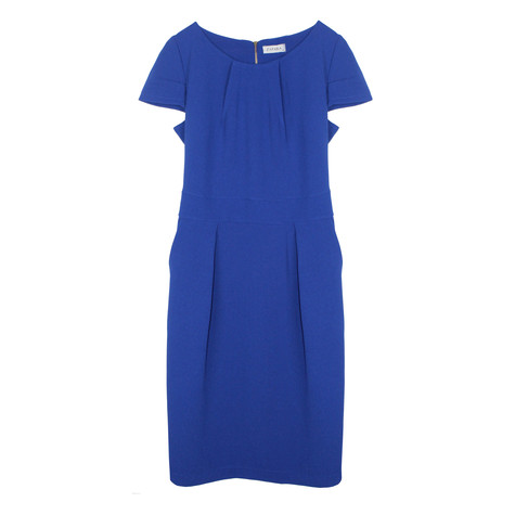 Zapara Royal Blue Crepe Dress