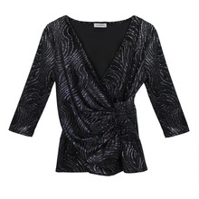 SophieB Glitzy V-Neck Wrapped Top