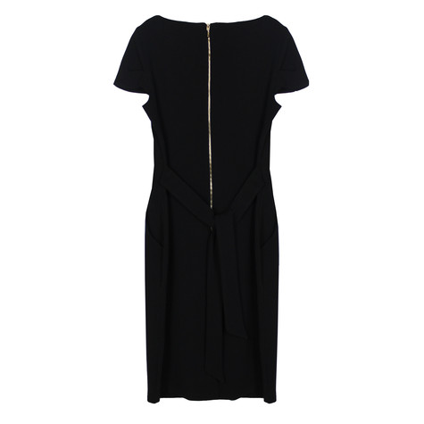 Zapara Black Crepe Dress