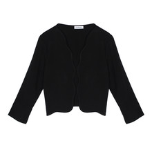 Zapara Black Scallop Crop Jacket