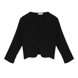 Zapara Black Scallop Crop Jacket