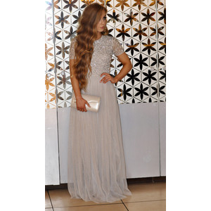 Maya Maxi Dress With Delicate Sequin And Tulle Skirt