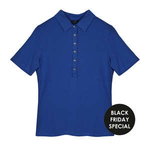 Basler Blue Polo Top