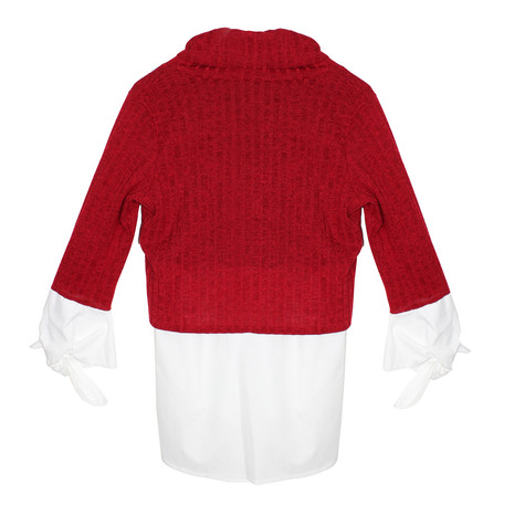 SophieB Red Cowl Neck Knit Top