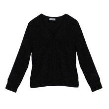 Zapara Black Glitter Clip Jacket