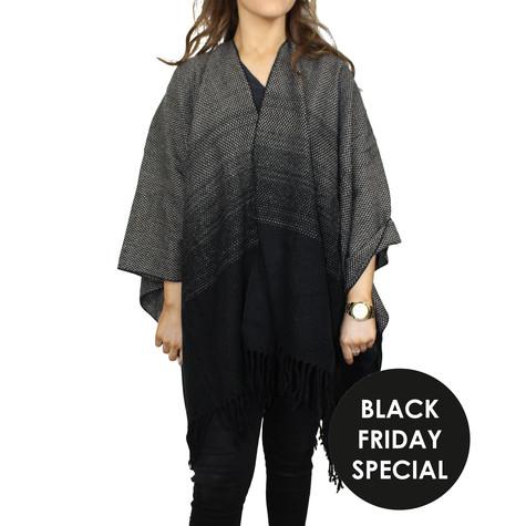 Olsen Grey & Black Shawl - BLACK FRIDAY SPECIAL €20