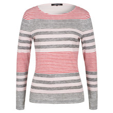 Olsen LONG-SLEEVED TOP STRIPED PATTERN - DUSTY ROSE