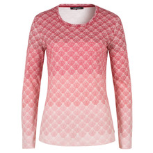 Olsen LONG-SLEEVED TOP FAN PRINT - CINNAMON
