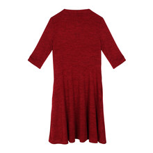 Twist Red SWING 3/4 SLEEVE DRESS