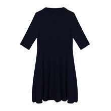 Twist NAVY SWING 3/4 SLEEVE DRESS