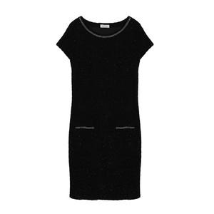 Zapara Black Round Neck Eclipse Glitter Dress