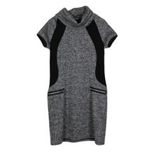 Twist Grey Cowl Neck Dress