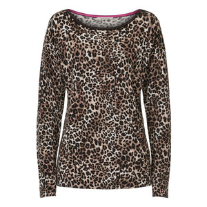 Betty Barclay Leopard Pattern Print Round Neck Top