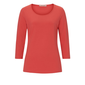 Betty Barclay Coral Round Neck Long Sleeve Top