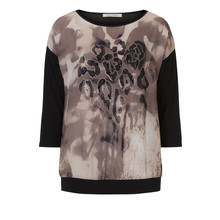 Betty Barclay Dark Beige Graphic Print Top