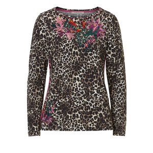 Betty Barclay Embroidery Leopard Print Top