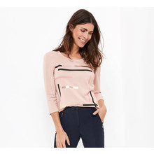 Gerry Weber Rose Long Sleeve Stripe Design Top