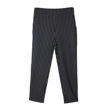 Zapara Black Pinstripe Trousers