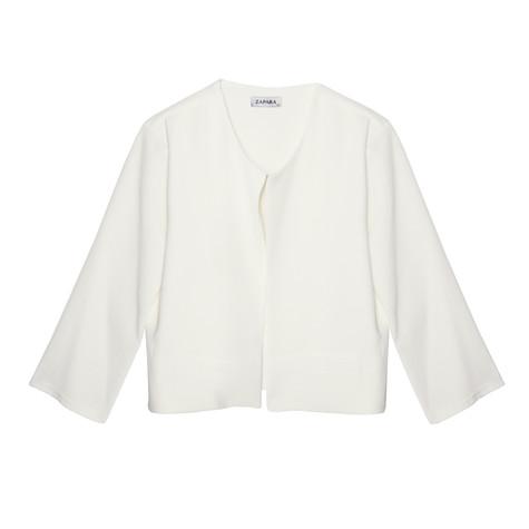 Zapara Cream Open Front Jacket