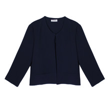 Zapara Navy Open Front Jacket