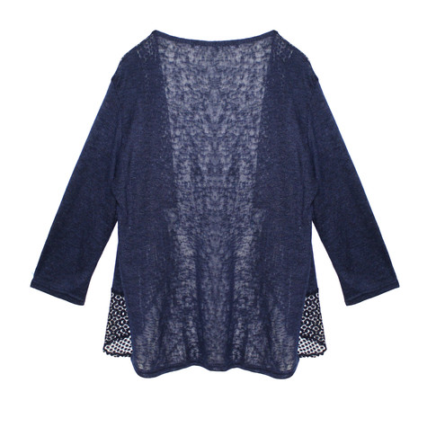 SophieB Navy Light Open Front Knit
