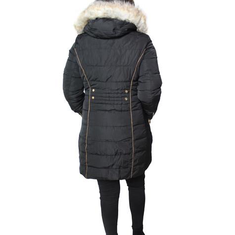 Kelya Reverse-able Black & Khaki Winter Coat