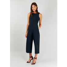 Closet Navy Crop Wide Leg Jumpsuit