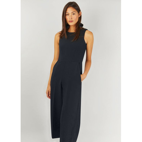 56029bda53d Closet Navy Crop Wide Leg Jumpsuit