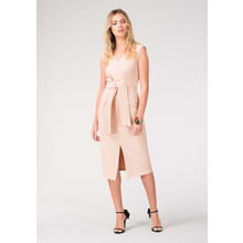 Closet Nude Tie Front Dress