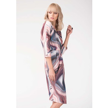 Closet Pink Marble Jersey Draped Wrap Dress