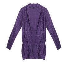 Twist Aubergine Pattern Open Long Knit