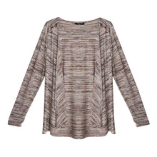 SophieB Peach Pattern Open Light Knit