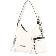 Gionni White Accessory Side Zip Detail Bag