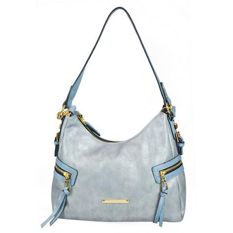 Gionni Demin Blue Side Zip Accessory Bag