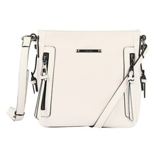Gionni White Vertical Zip Detail Bag