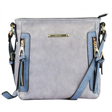 Gionni Demin Blue Vertical Zip Accessory Bag