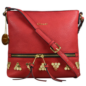 Gionni Red Studded Accessory Bag