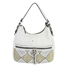 Gionni White Accessory Studded Bag