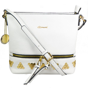 Gionni White Accessory Studded Bag