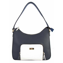 Gionni Navy & White Panel Bag