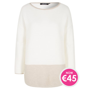 Olsen PULLOVER BOXY SHAPE TWO TONE KNITS - NOW €45