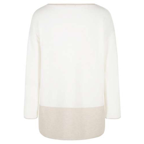 Olsen PULLOVER BOXY SHAPE TWO TONE KNIT