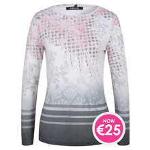 Olsen LONG-SLEEVED TOP ASIA MOTIVE - GRAPHITE - NOW €25