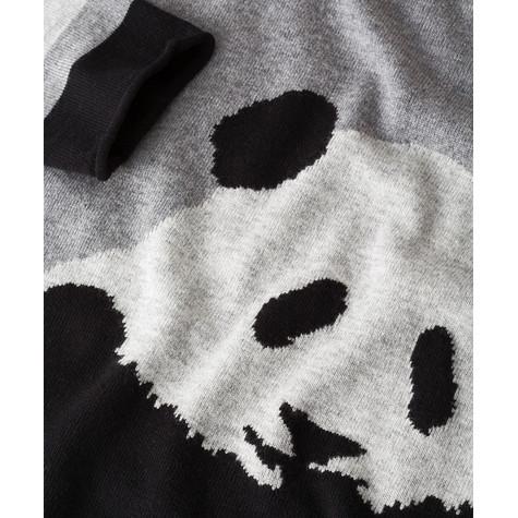 Olsen PANDA PRINT PULLOVER IN GRAPHITE MELANGE