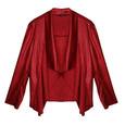 SophieB Red Open Drape Jacket